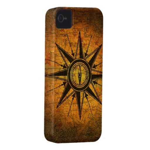 Antique Compass Rose Case-Mate iPhone 4 Cases