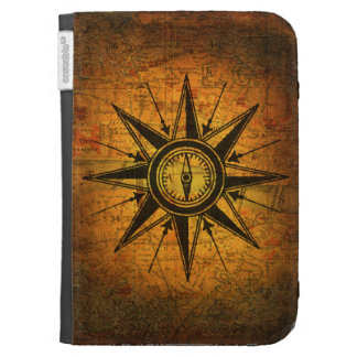 Antique Compass Rose Cases For Kindle