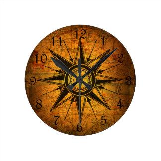 Antique Compass Rose Clocks