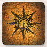 Antique Compass Rose Coasters