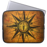 Antique Compass Rose Computer Sleeve