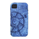 Antique compass rose iPhone 4/4S cover