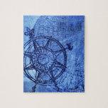 Antique compass rose jigsaw puzzle