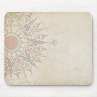 Antique Compass Rose Mouse Pad