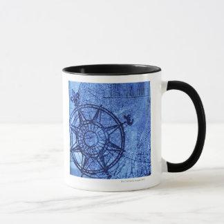Antique compass rose mug