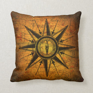 Antique Compass Rose Pillows