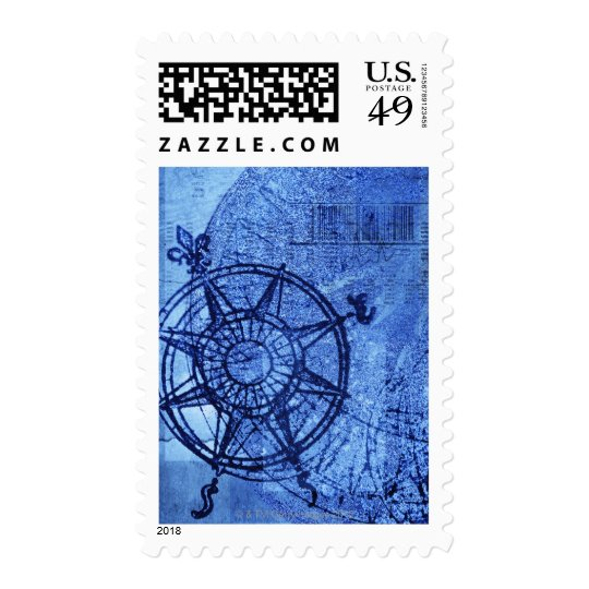 Antique compass rose postage