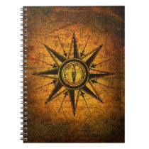 Antique Compass Rose Spiral Notebook