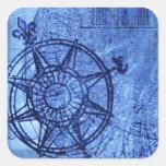 Antique compass rose sticker