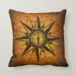 Antique Compass Rose Throw Pillows
