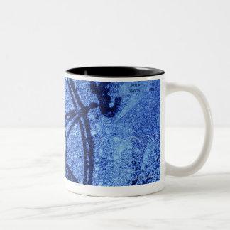 Antique compass rose Two-Tone coffee mug