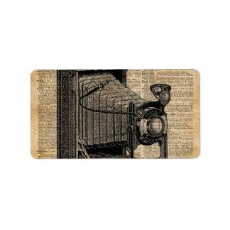 Antique Conley Camera,Vintage Encyclopedia Book Pa Label
