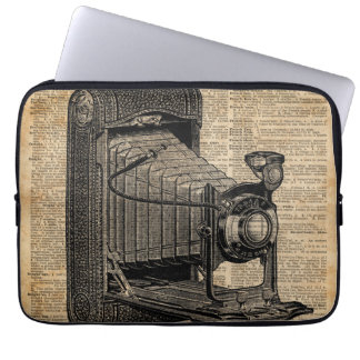 Antique Conley Camera,Vintage Encyclopedia Book Pa Laptop Sleeve