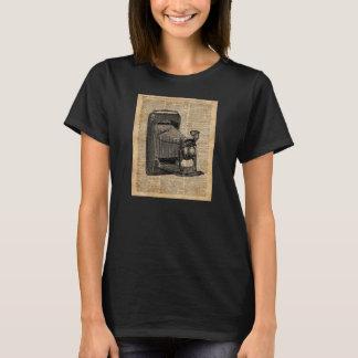 Antique Conley Camera,Vintage Encyclopedia Book Pa T-Shirt