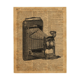 Antique Conley Camera,Vintage Encyclopedia Book Pa Wood Wall Art