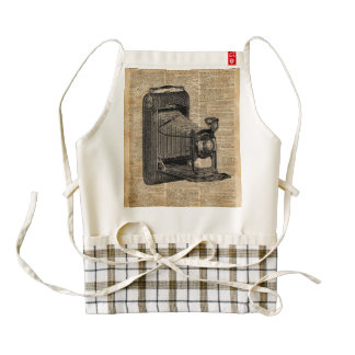 Antique Conley Camera,Vintage Encyclopedia Book Pa Zazzle HEART Apron