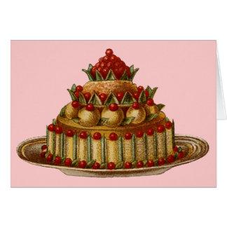 Antique Cookery Fancy Dessert cherry Pie Card