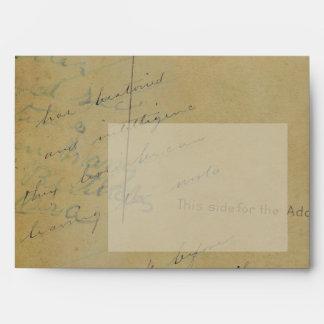 Antique Correspondence   Green Liner Custom Envelope