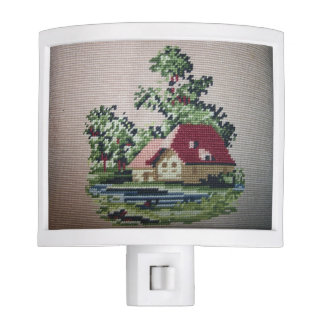 Antique Cottage Sampler Night Light