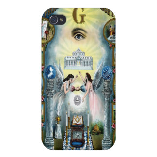 Antique Craft Freemasonry Masonic Hazen iPhone 4 Cases