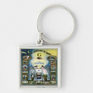 Antique Craft Freemasonry Masonic Hazen Keychain