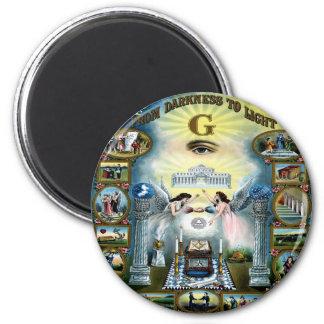 Antique Craft Freemasonry Masonic Hazen Magnet
