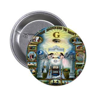 Antique Craft Freemasonry Masonic Hazen Pinback Button