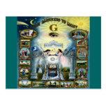 Antique Craft Freemasonry Masonic Hazen Postcard