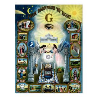 Antique Craft Freemasonry Masonic Hazen Post Cards