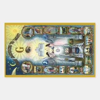 Antique Craft Freemasonry Masonic Hazen Rectangular Sticker