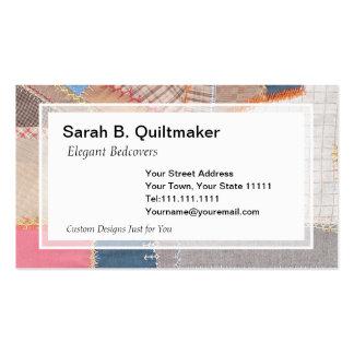 Antique Crazy Quilt for Quilter Antique Dealer Business Card Templates