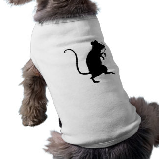 Antique Critter Mouse Silhouette Dog T Shirt