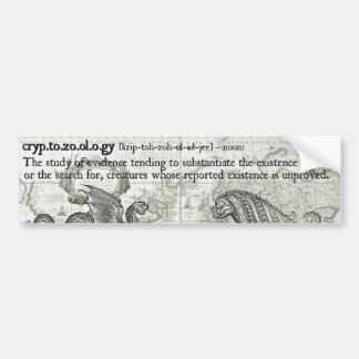Antique Cryptozoology Definition Bumper Sticker Car Bumper Sticker