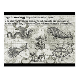 Antique Cryptozoology Postcards