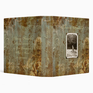 "Antique Custom Photo Family History (1.5"") Binder"