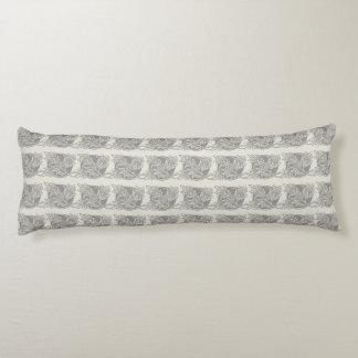 Antique Damask Pattern Art Nouveau Design Deco Body Pillow