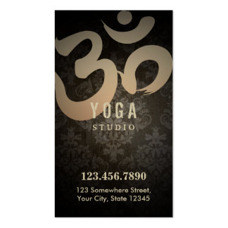 Antique Damask Yoga Loyalty Punch Double-Sided Standard Business Cards (Pack Of 100)