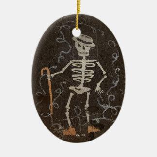 Antique Dancing Skeleton Customizable Christmas Tree Ornaments