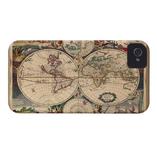 Antique Danckerts Old World Map Blackberry case