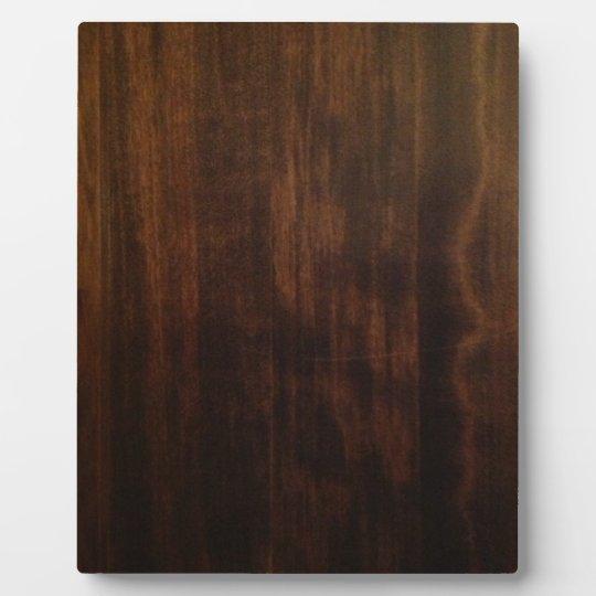 Antique Dark Wood Design Plaque