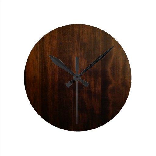 antique dark wood design wall clocks zazzle