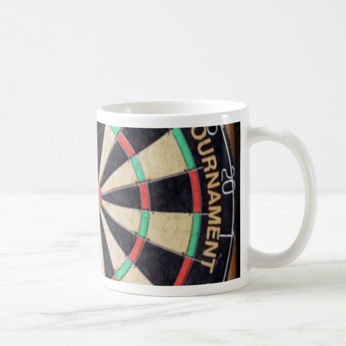 antique dart coffee mug