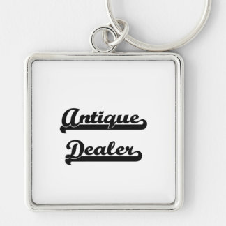 Antique Dealer Artistic Job Design Silver-Colored Square Keychain