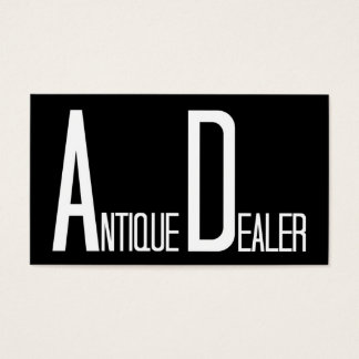 Antique Dealer Black and White Business Card