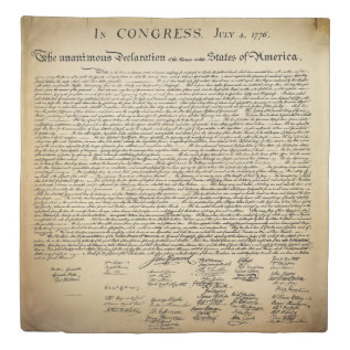 Antique Declaration Of Independence Duvet Cover at Zazzle