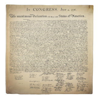 Antique Declaration of Independence Duvet Cover