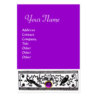 ANTIQUE DECOR, AMETHYST  MONOGRAM ,purple Large Business Card