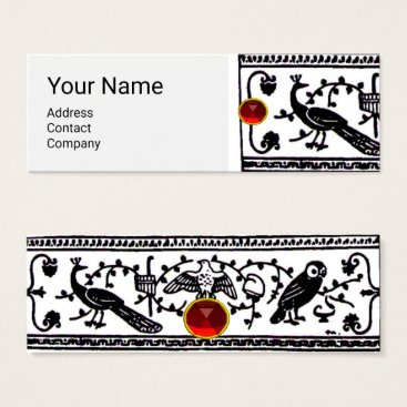 Wedding Themed ANTIQUE DECOR ,ANIMALS,RED RUBY,Black White Mini Business Card