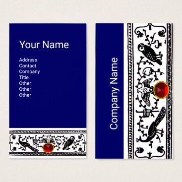 Wedding Themed ANTIQUE DECOR ,ANIMALS,RED RUBY,White, Black Blue Business Card