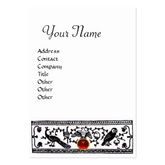 ANTIQUE DECOR,RED RUBY  MONOGRAM LARGE BUSINESS CARD